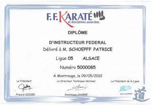 Diplome d'instructeur Fédéral de karaté_000001